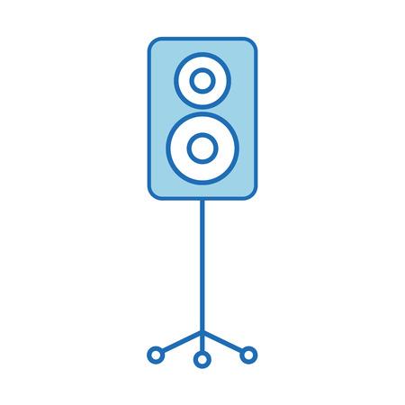 speaker in tripod music celebration party vector illustration
