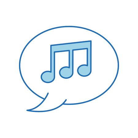 スピーカー バブル注音楽メロディー組成ベクトル図