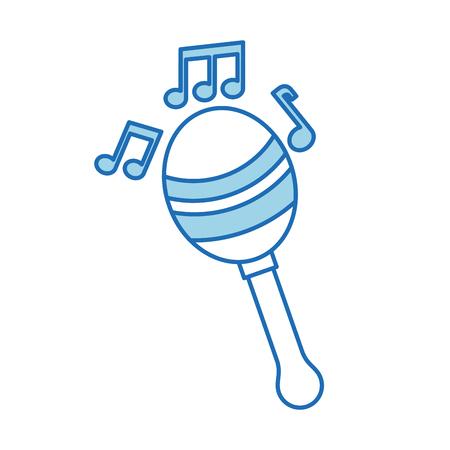 Maracas Opmerking muziek instrument muzikale festival viering vector illustratie