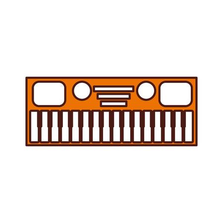 白い背景のベクトル図の音楽シンセサイザーの電子楽器キーボード 写真素材 - 90294740