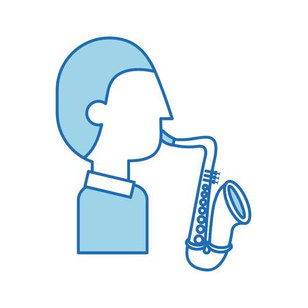 musician character saxophone jazz music festival vector illustration 向量圖像