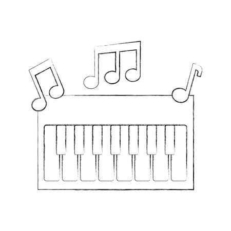 Synthesizer Opmerking muziek elektronisch instrument Toetsenbord vector illustratie Stockfoto - 90294753