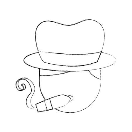 Tabouret batteur cigare et chapeau caractère jazz jazz vecteur de la musique illustration Banque d'images - 90294757