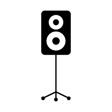 speaker in tripod music celebration party vector illustration