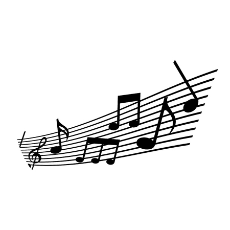 note musical melody harmony concert vector illustration
