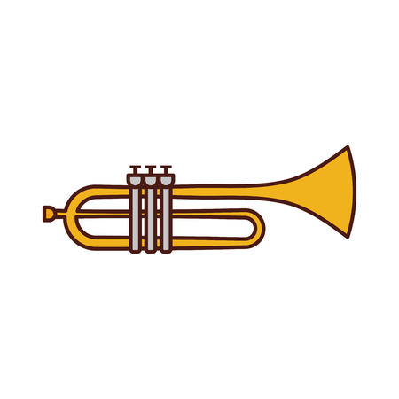 Trompette instrument musical festival célébration vecteur illustration Banque d'images - 90294769