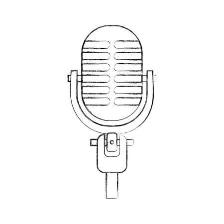 マイク サウンド音楽機器アイコン ベクトル図