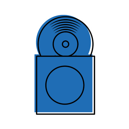 papercase ベクトル図のビニール レコードのディスクで音楽アルバム カバー