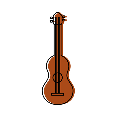 guitar instrument music acoustic harmony vector illustration Illustration