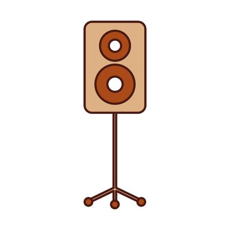 spreker in driepoot muziek viering partij vectorillustratie