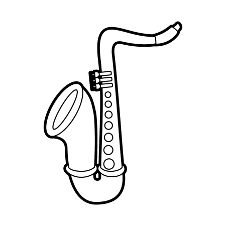 saxophone jazz instrument musical festival celebration vector illustration