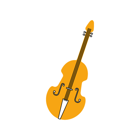 fiddle musical instrument classic object vector illustration
