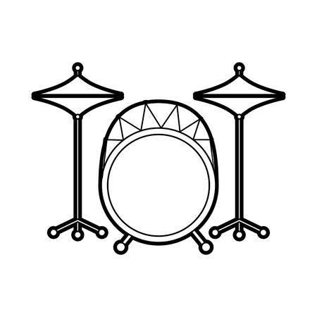 battery instrument musical drums concert icon vector illustration Ilustrace