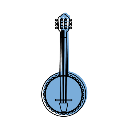 banjo jazz instrument musical festival celebration vector illustration