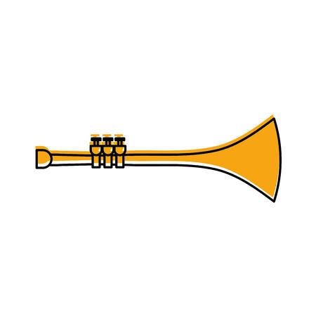 トランペット風楽器ホルン ベクトル図 写真素材 - 90294908