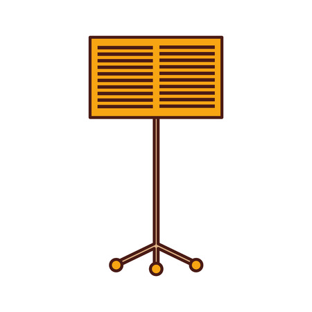 music stand book concert melody vector illustration 스톡 콘텐츠 - 90294909
