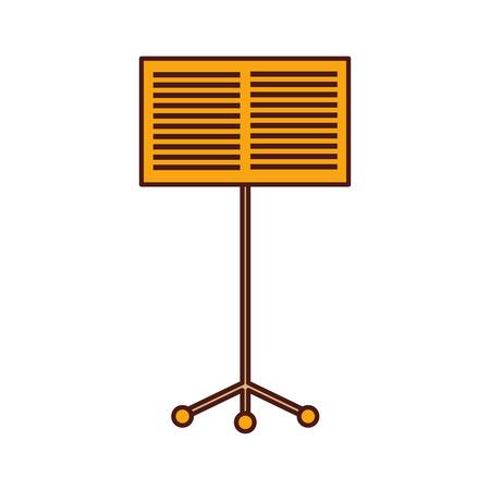 Notenständer Buch Konzert Melodie Vektor-Illustration Standard-Bild - 90294909