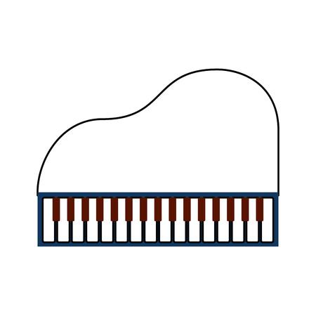 piano music instrument classic cartoon vector illustration