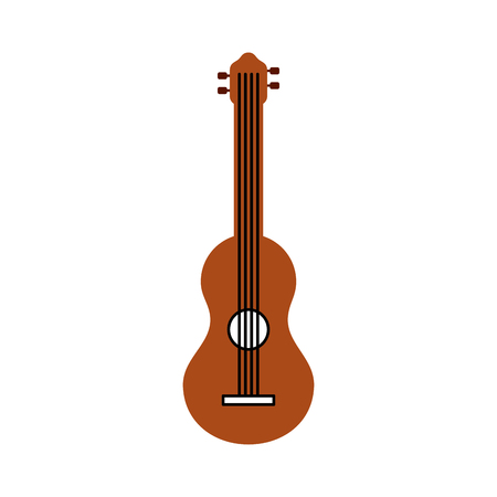 guitar classical instrument music acoustic vector illustration Illustration