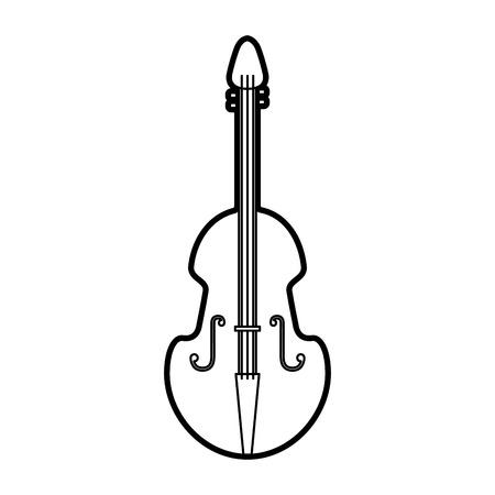 バイオリン楽器古典的なオブジェクトのベクトル図