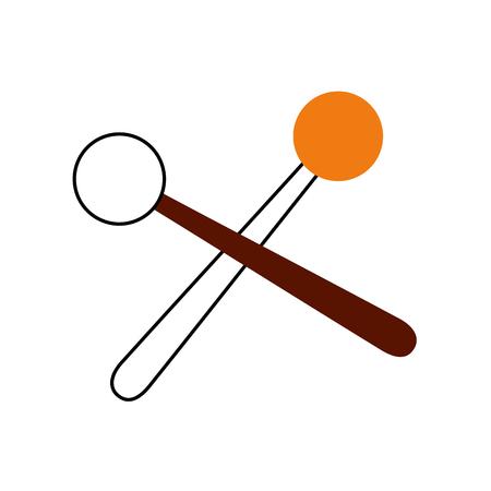 木の棒音楽パーカッション音響機器ベクトル図  イラスト・ベクター素材