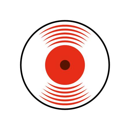 music vinyl disk vintage cartoon vector illustration Illustration
