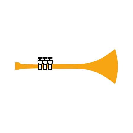 Tromba vento strumento musicale corno illustrazione vettoriale Archivio Fotografico - 90295020