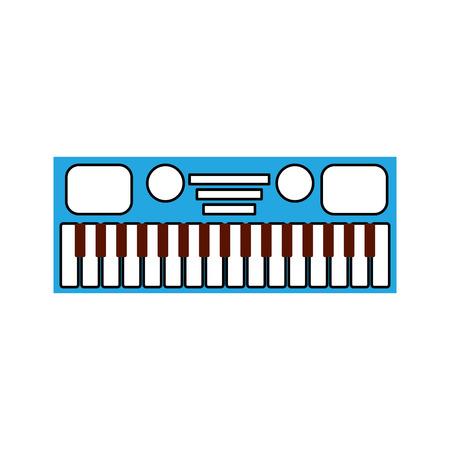 シンセサイザー電子楽器キーボード音楽のベクトル図  イラスト・ベクター素材