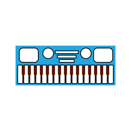 synthesizer electronic instrument keyboard musical vector illustration