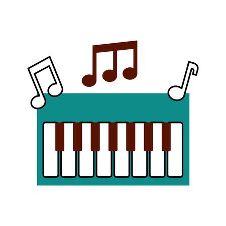 신디사이저 메모 음악 전자 악기 키보드 벡터 일러스트 레이션