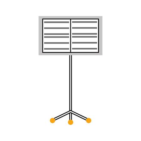 Musik Stand Flugzeug Konzert Melodie Vektor-Illustration Standard-Bild - 90295090