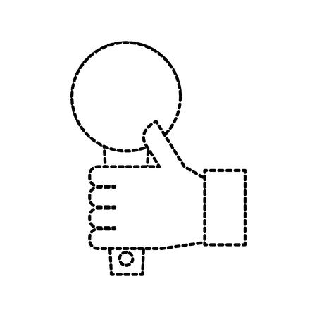 hand met microfoon muziek zang uitzending vectorillustratie