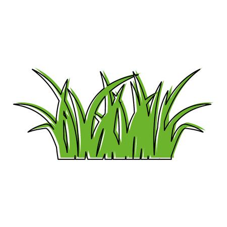 緑の芝生自然林葉イメージ ベクトル イラスト