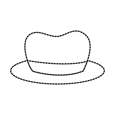 hat for men accessory old fashion vector illustration