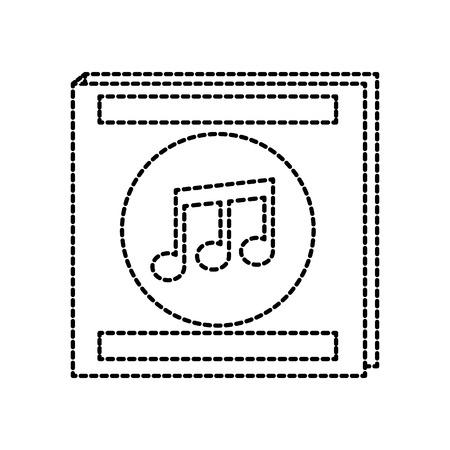envelope for music album note musical flat design vector illustration Ilustração