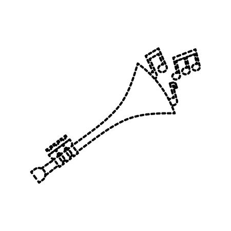 Trompete Noten Wind Musikinstrument Horn Vektor-Illustration Standard-Bild - 90295262