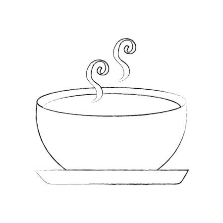 Köstliche Suppe Schüssel Lebensmittel der Saison Herbst Vektor-Illustration Standard-Bild - 90310533