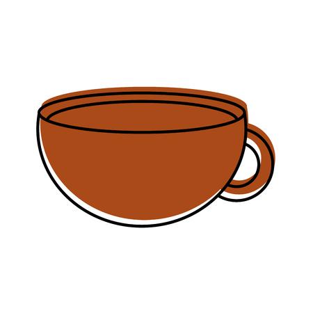 cup of beverage refreshment aroma liquid vector illustration