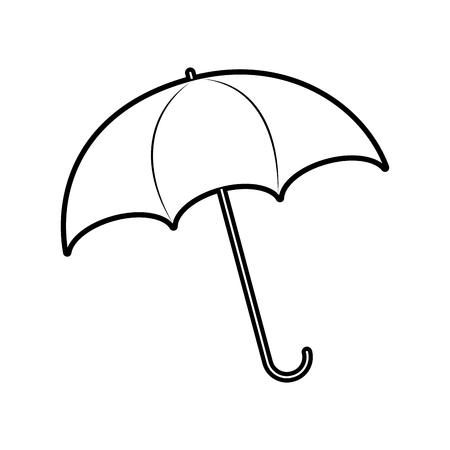 umbrella rainy season protection accessory vector illustration Ilustrace