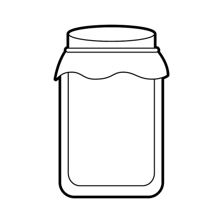 glass jar with cap filled with honey vector illustration 向量圖像