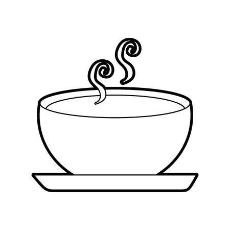 Köstliche Suppe Schüssel Lebensmittel der Saison Herbst Vektor-Illustration Standard-Bild - 90304541