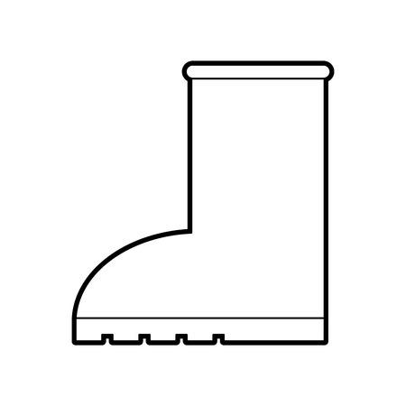 Chaussure en caoutchouc pluie icône icône saisonnière sur fond blanc illustration vectorielle Banque d'images - 90304545