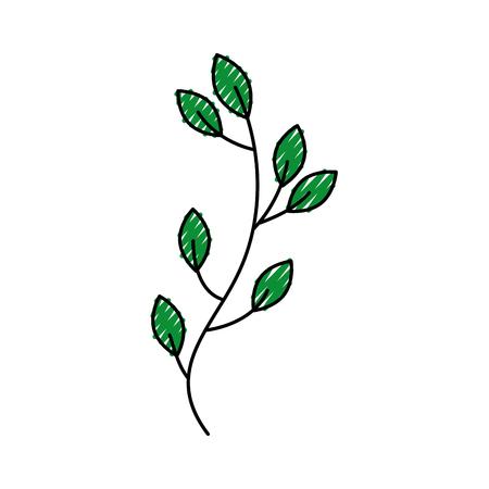 秋の木の枝の葉葉植物イメージ ベクトル イラスト