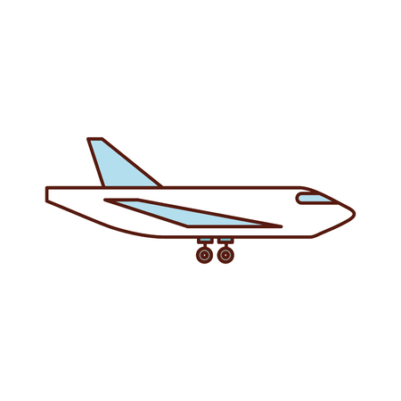 Delivery cargo airplane logistic transport shipping, vector illustration.