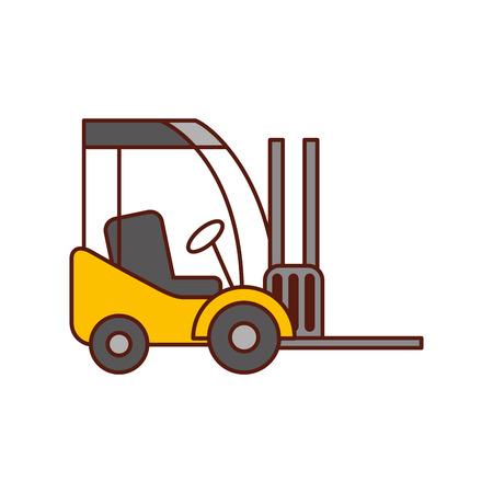 지게차 배달 트럭화물 차량 벡터 일러스트 레이션 스톡 콘텐츠 - 90305127