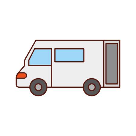 Vrachtwagen pictogram bestelwagen dienst transport zakelijke vectorillustratie Stockfoto - 90305130