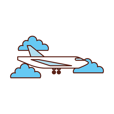 delivery cargo airplane logistic transport shipping vector illustration Stock Vector - 90305145