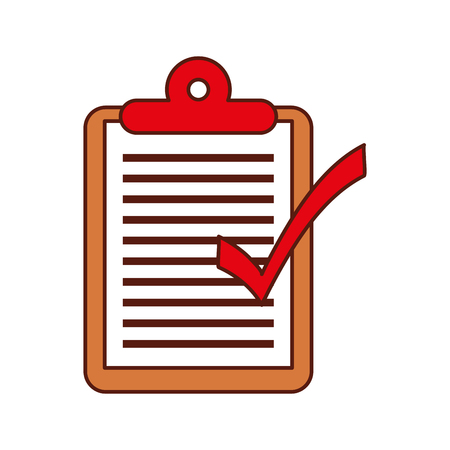 logistic delivery checklist clipboard ok vector illustration