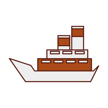 sea boat transport delivery vehicle logistic vector illustration Stock Vector - 90305149