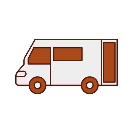 Vrachtwagen pictogram bestelwagen dienst transport zakelijke vectorillustratie Stockfoto - 90305150
